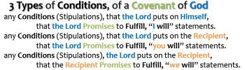 3 CONDITIONS OF A COVENANTS